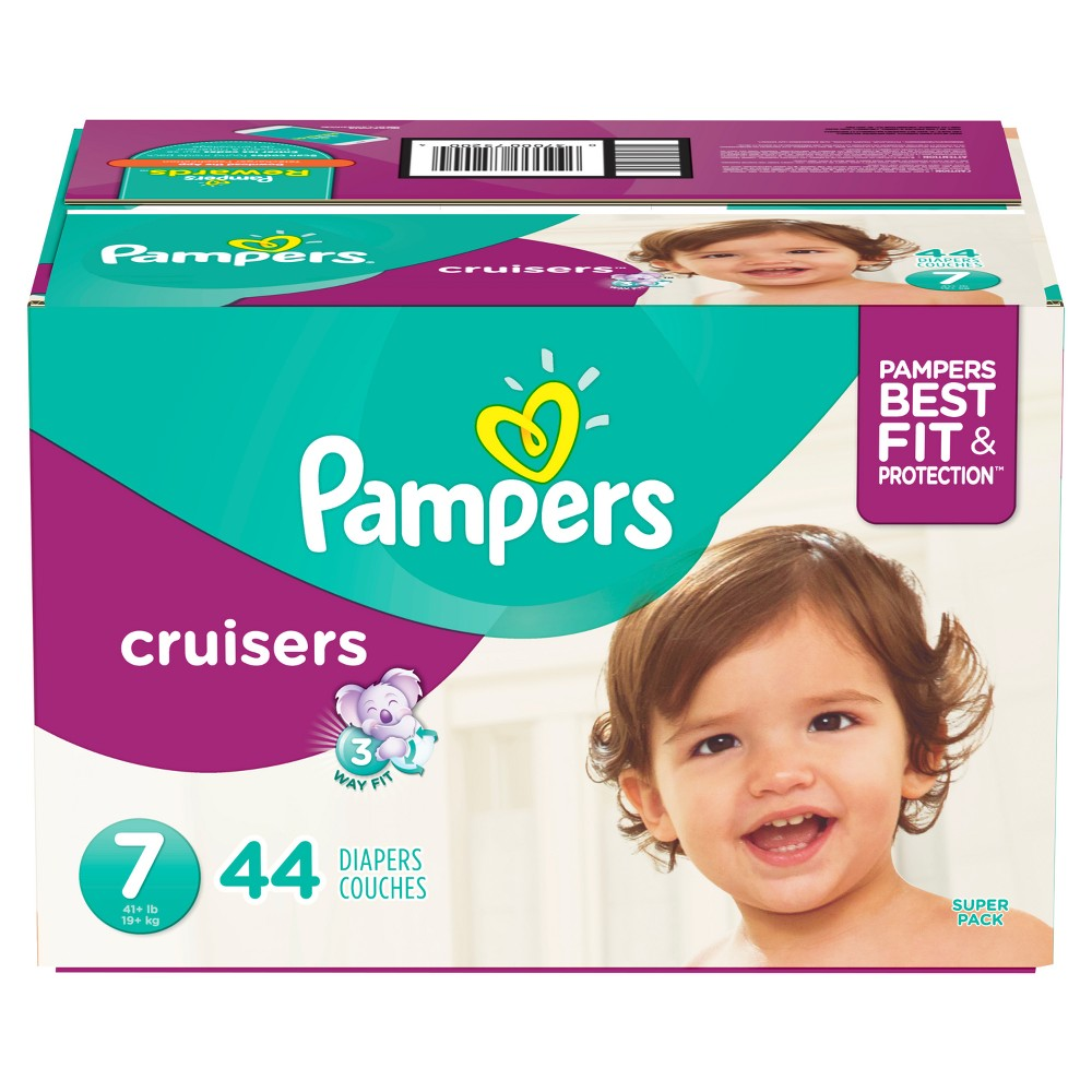 Pampers Cruisers Diapers Super Pack - Size 7 (44ct)