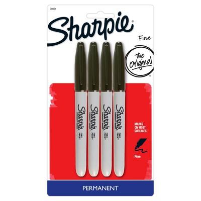 Sharpie® Permanent Marker, Fine Tip, 4 ct