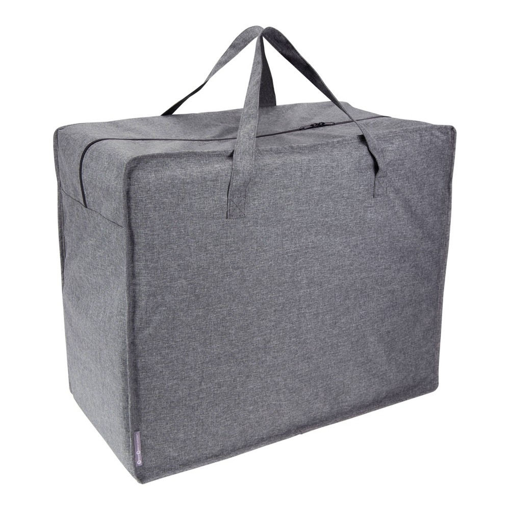 Image of Handled Storage Bag knock down Gray - Bigso Box of Sweden