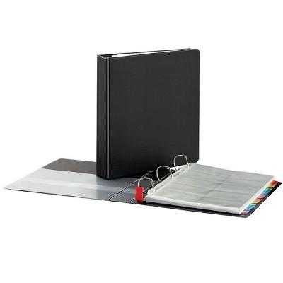 Cardinal Easy Open Card File Binder, Black, 500 65325