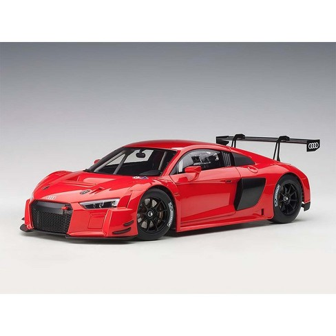 Audi R8 Fia Gt Gt3 Plain Color Version Red With Black Wheels 118