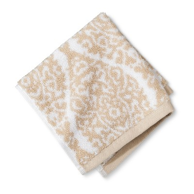 Washcloth Performance Texture Bath Towels And Washcloths Light Brown - Threshold™