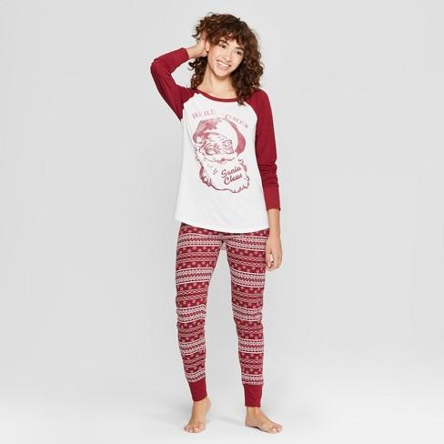 d07f1be8849bb Weekend Soul Women s Holiday Super Soft Santa Pajama Set - Red   Target