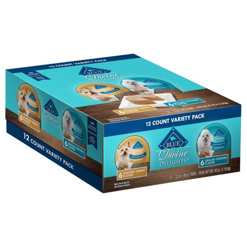 Blue Buffalo - Divine Delights - Roasted Turkey & Grilled Chicken Flavor - 12ct Variety Pack - Wet Dog Food - 12.5oz - image 1 of 1