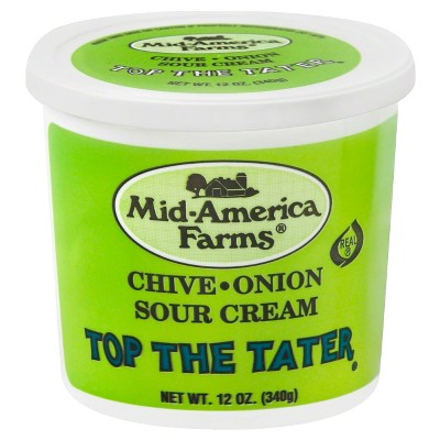 Mid-America Farms Top The Tater Chive Onion Sour Cream - 12oz