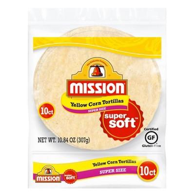 Mission Gluten Free Super Size Yellow Corn Tortillas - 10.84oz/10ct