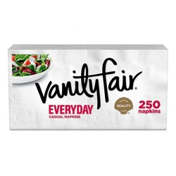 Vanity Fair Everyday White Napkins - 250ct