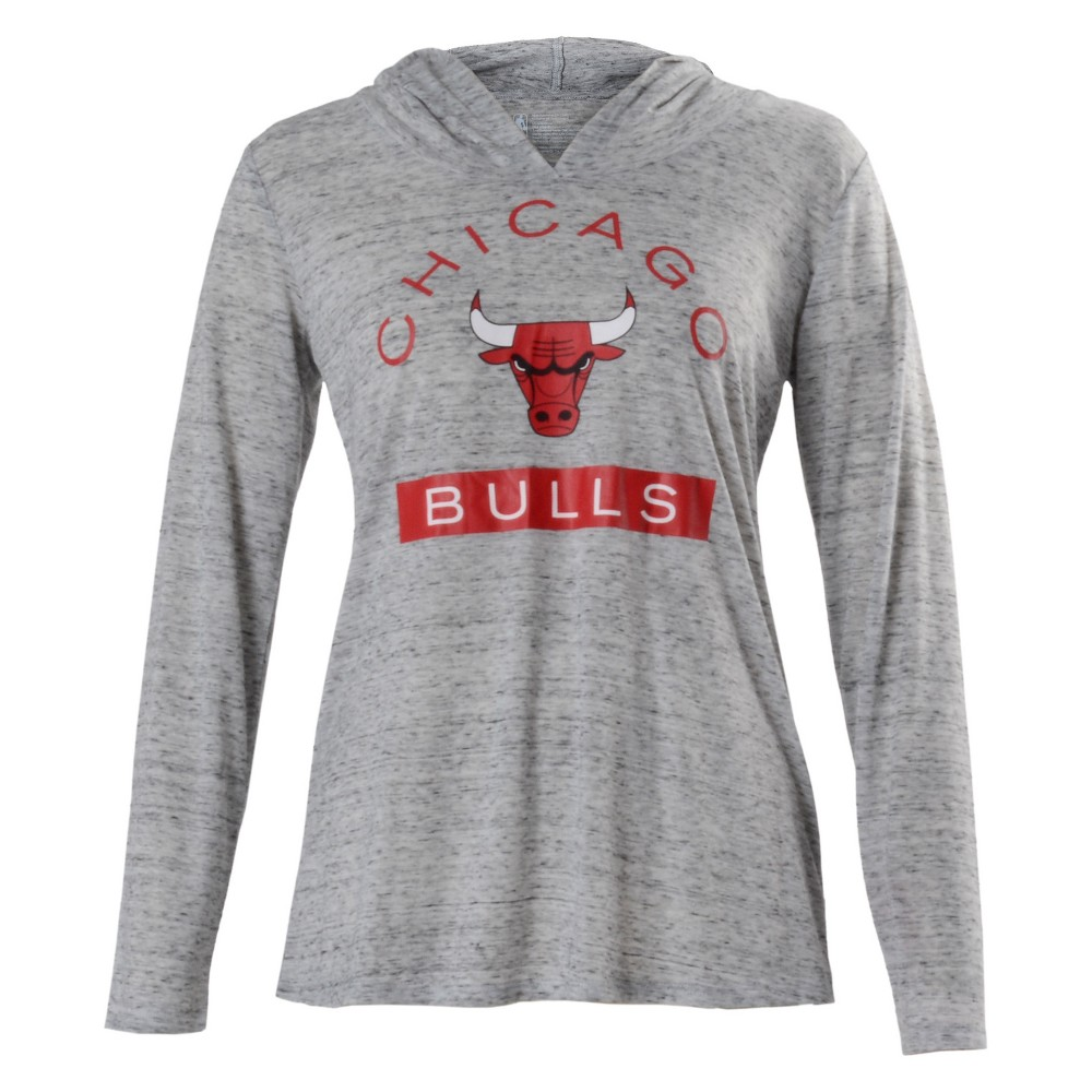 Chicago Bulls Women's Tech Arch Gray Lightweight Hoodie M, Multicolored
