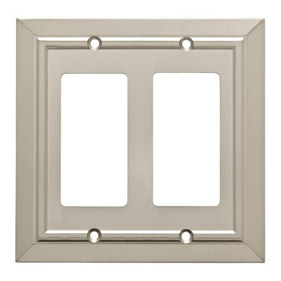 Franklin Brass Classic Architecture Double Decorator Wall Plate Nickel