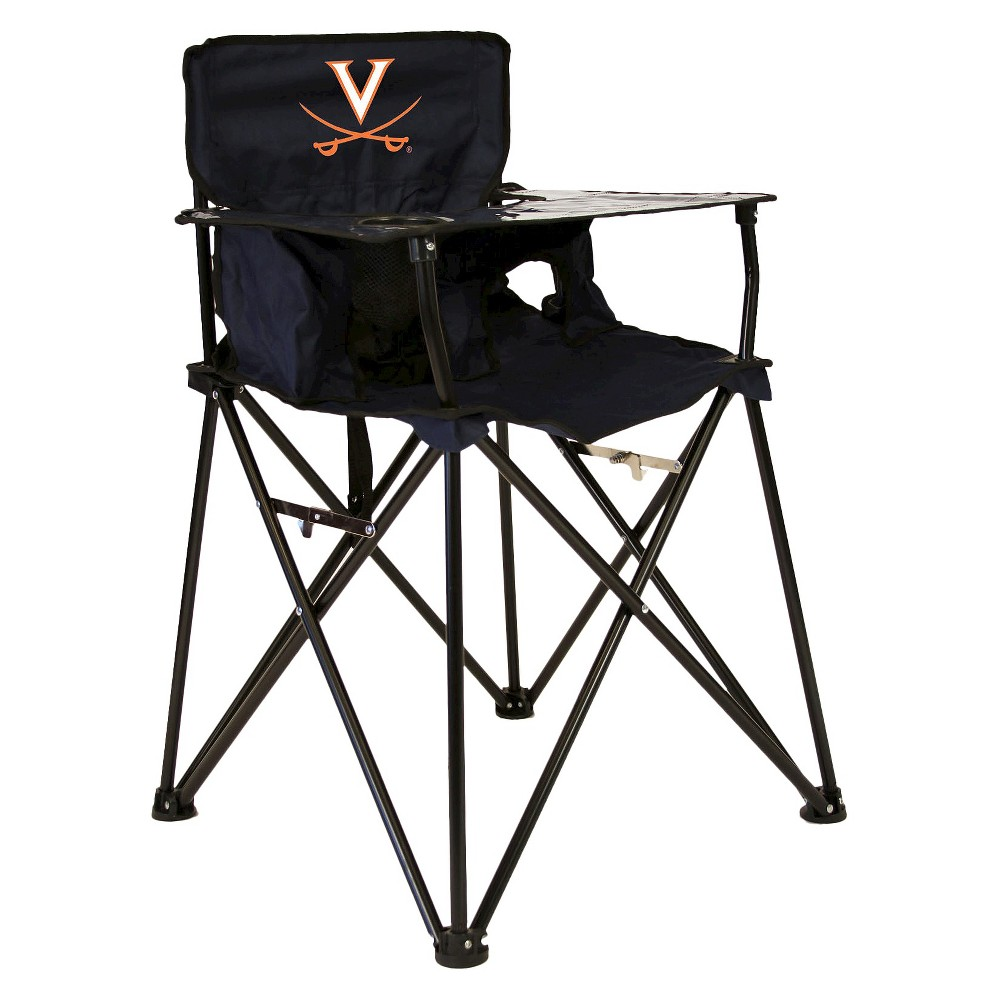 ciao! baby University of Virginia Cavaliers Portable High Chair in Navy Blue, Multi-Colored