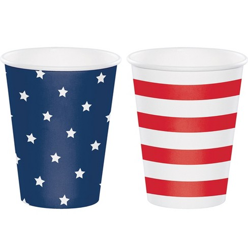 12ct Star/Stripe Print Paper Cups - image 1 of 1