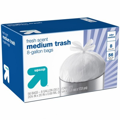 Medium Trash Bags Fresh Scent 8 Gallon - 56ct - up & up™