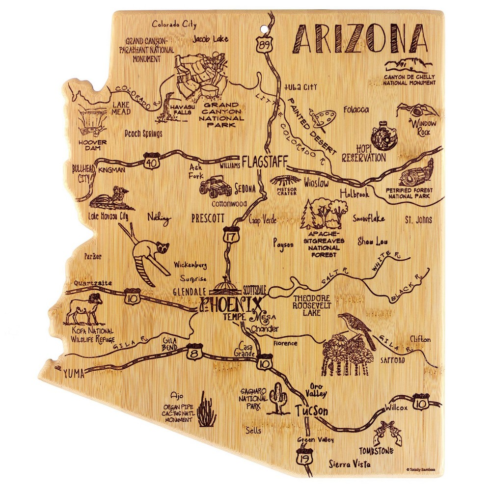 Image of Totally Bamboo Destination Arizona Serving and Cutting Board
