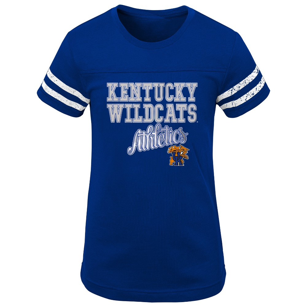 NCAA Girls Short Sleeve Scoop Neck T-Shirt Kentucky Wildcats - M, Multicolored
