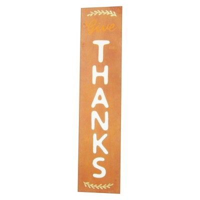 48'' Large Reversible Sign Give Thanks/Trick or Treat