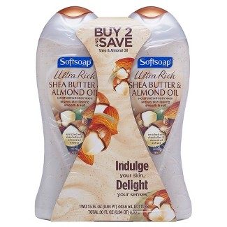 Softsoap Moisturizing Body Wash Shea & Almond Oil - 15 fl oz/2pk