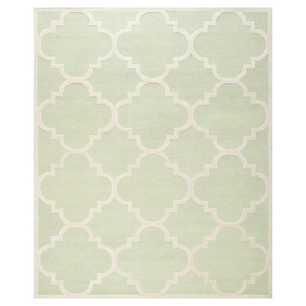 Landon Texture Wool Rug - Light Green / Ivory (9' X 12') - Safavieh, Light Green/Ivory