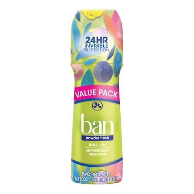 Ban Roll-On Powder Fresh Antiperspirant & Deodorant - 3.5 fl oz