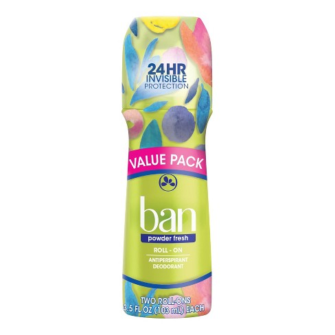Ban Antiperspirant & Deodorant Powder Fresh Twin Pack - 3.5 fl oz/2pk - image 1 of 4