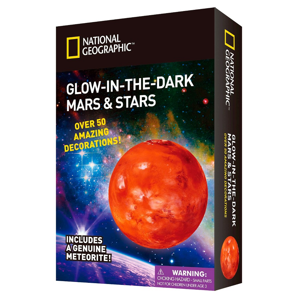 National Geographic Glow in the Dark 3D Mars and Stars, 50ct