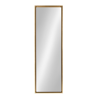 "18"" x 58"" Evans Free Standing Floor Mirror with Easel Gold - Kate and Laurel"