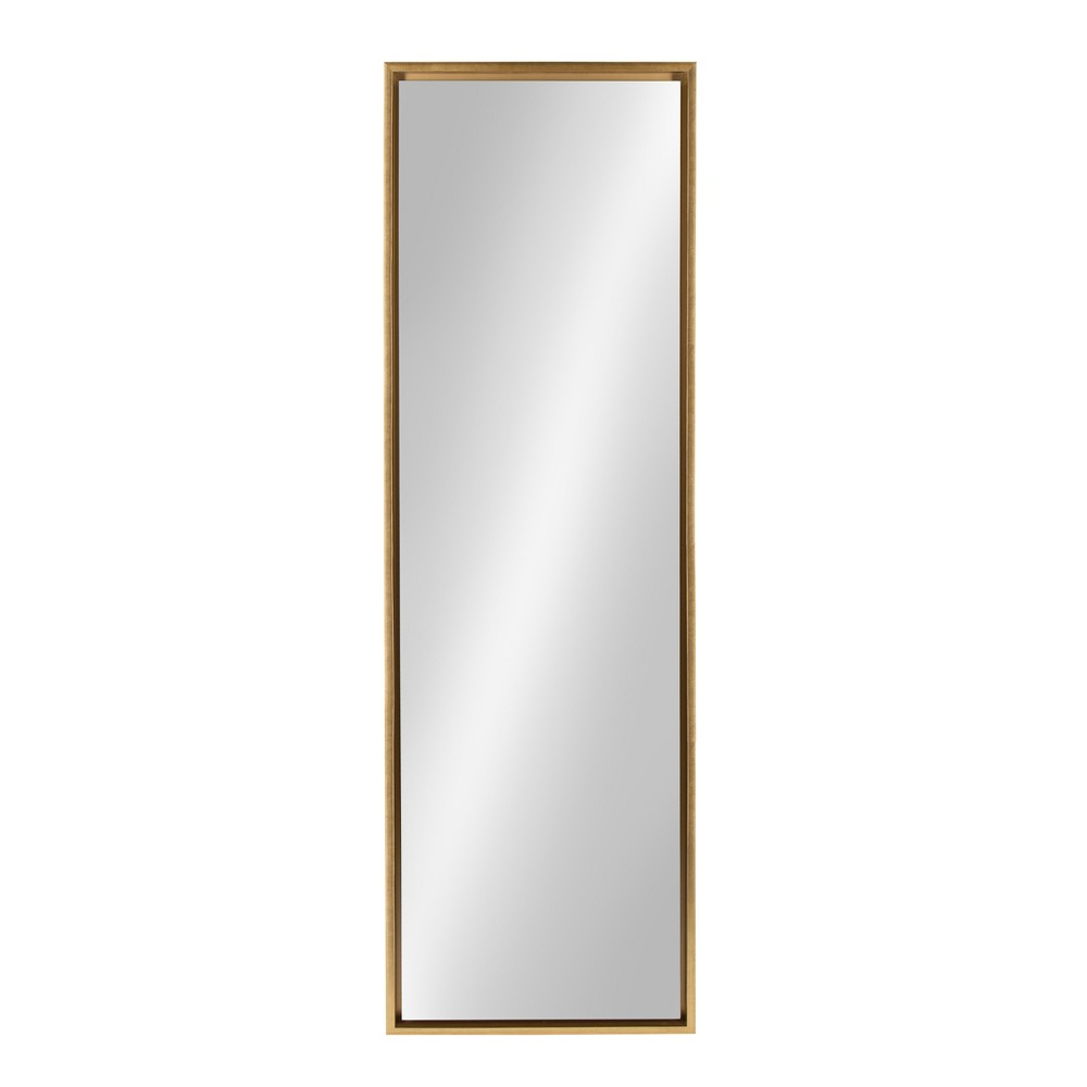 Image of Evans Leaner Decorative Wall Mirror 18x58 - Kate & Laurel, Gold