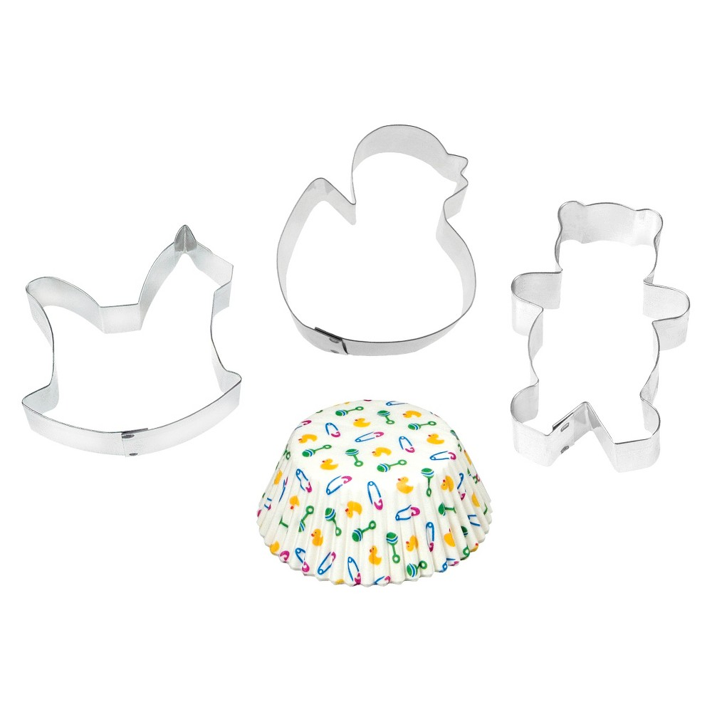 Image of Fox Run Four Piece Baby Baking Set, White