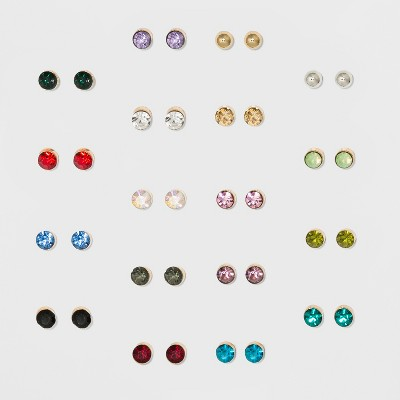Colorful and Small Stud Multi Earrings 18ct - Wild Fable™