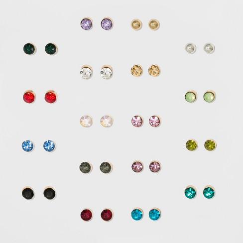 556d1c6fe Colorful And Small Stud Multi Earrings 18ct - Wild Fable™ : Target
