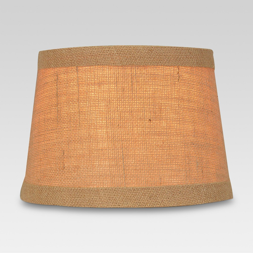 Burlap Trimmed Small Lamp Shade Natural - Threshold, Brown
