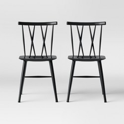 Set of 2 Becket Metal X Back Dining Chair - Project 62™