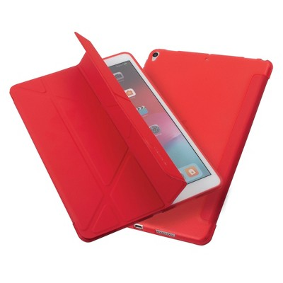 """Insten - Tablet Case for iPad Air 3, Pro 10.5"""", Multifold Stand, Magnetic Cover Auto Sleep/Wake, Pencil Charging, Red"""