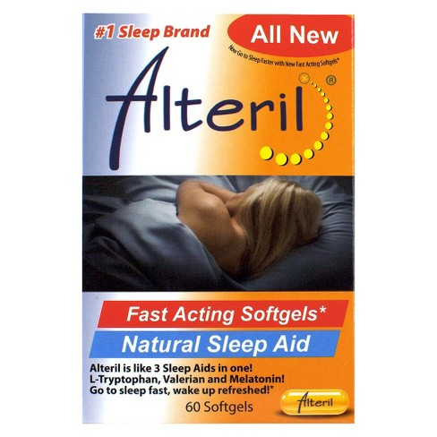 Alteril Fast Acting Natural Sleep Aid Softgels - Melatonin - 60ct - image 1 of 1