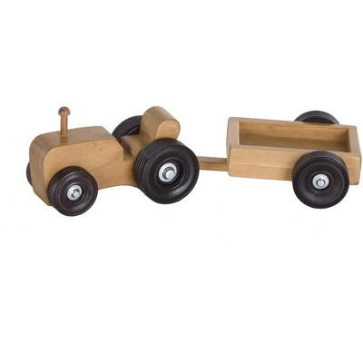 Remley Kids Wooden Tractor Wagon Playset