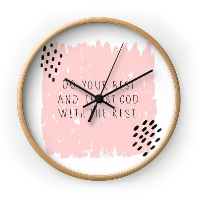 Allyson Johnson Do Your Best and Trust God Round Wall Clock - Deny Designs
