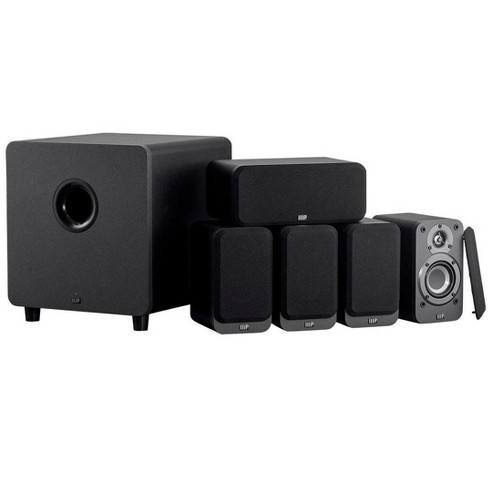 Monoprice HT-35 Premium 5.1-Channel Home Theater System - Charcoal, With Powered Subwoofer, Low Profile Speaker Grilles, Secure Mounting Option - image 1 of 4