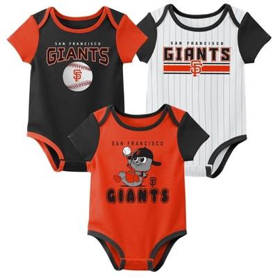 MLB San Francisco Giants Baby Boys' 3pk Bodysuit Set