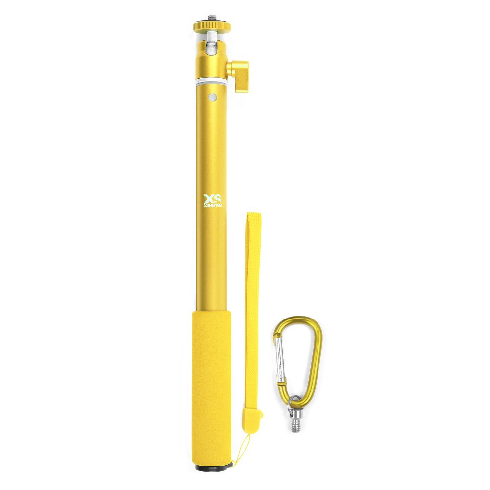 Xsories Big U-Shot Telescoping Camera Pole with GoPro Compatible Tripod Mount, Fits All GoPro Cameras and Digital Cameras - Yellow, Brown