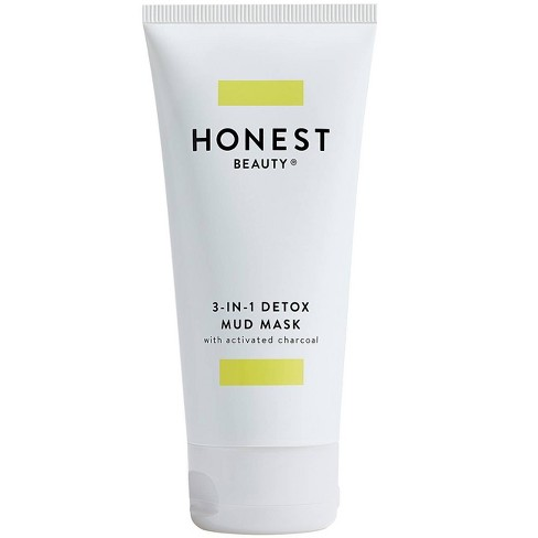 Honest Beauty 3-in-1 Detox Mud Mask with Activated Charcoal - 2.8 fl oz - image 1 of 4