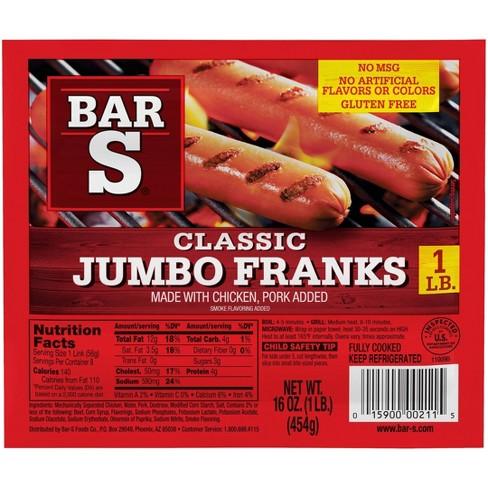 Bar-S Jumbo Franks - 16oz - image 1 of 4