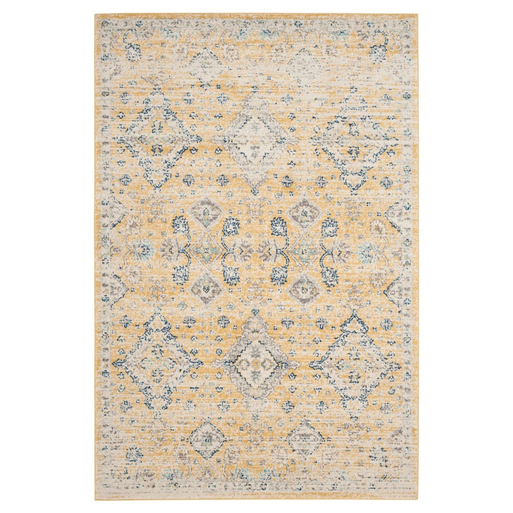 Gold/Ivory Abstract Loomed Area Rug - (9'X12') - Safavieh