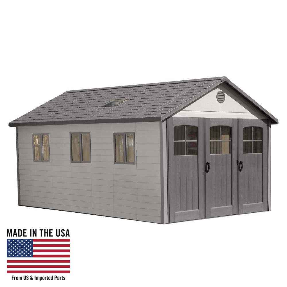 Storage Building Shed 11' X 21' - Desert Sand - Lifetime, Gray