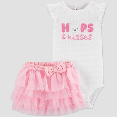 Baby Girls' 2pc Kisses Tutu Set - Just One You® made by carter's Pink 9M