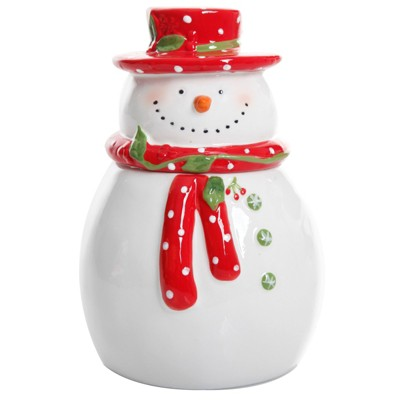 Gibson Jolly Plenitude 7.5in Snowman Cookie Jar