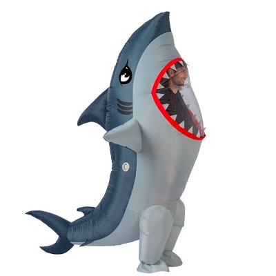 Adult 7' Shark Inflatable Halloween Costume One Size