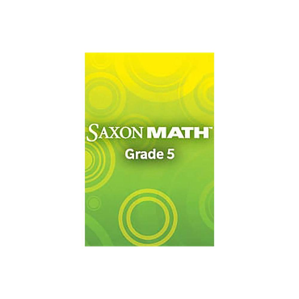 Saxon Math Intermediate 5, Volumes 1 & 2 - by Stephen Hake (Hardcover)