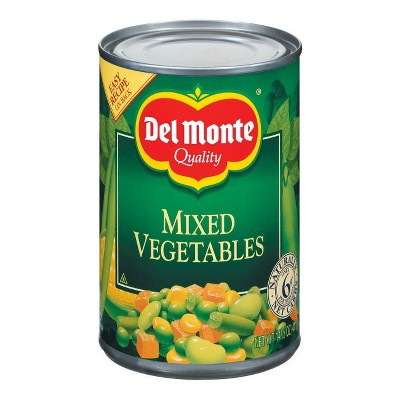 Canned Vegetables: Del Monte Mixed Vegetables