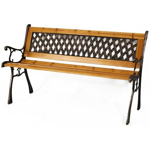 """Gardenised Patio Garden Park Yard 49"""" Outdoor Wooden Bench - image 1 of 4"""