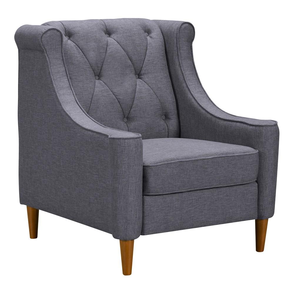 Kufra Mid-Century Sofa Chair Dark Gray - Modern Home