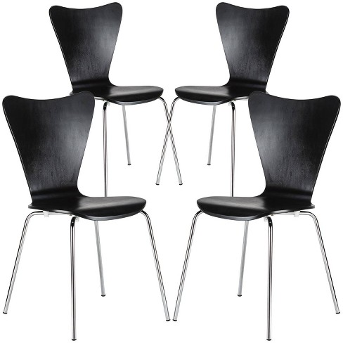 Set of 4 Sonata Mid Century Side Chair - Poly & Bark - image 1 of 4